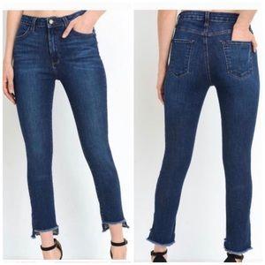 Just Black High Rise Step Hem Skinny Jeans Size 27